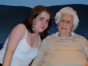 me and my grandma Laughlin